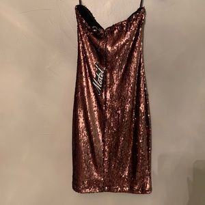 URBAN OUTFITTERS SEQUIN STRAPLESS DRESS
